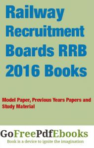 Railway Recruitment Boards RRB 2016 Books